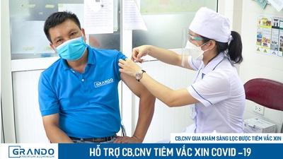 Grando tổ chức tiêm vắc xin phòng ngừa covid-19 đợt 1