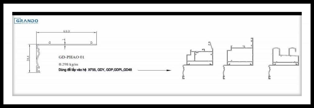 GD-PHAO 01 dùng cho các hệ XF55, GDY, GDPL, GD48