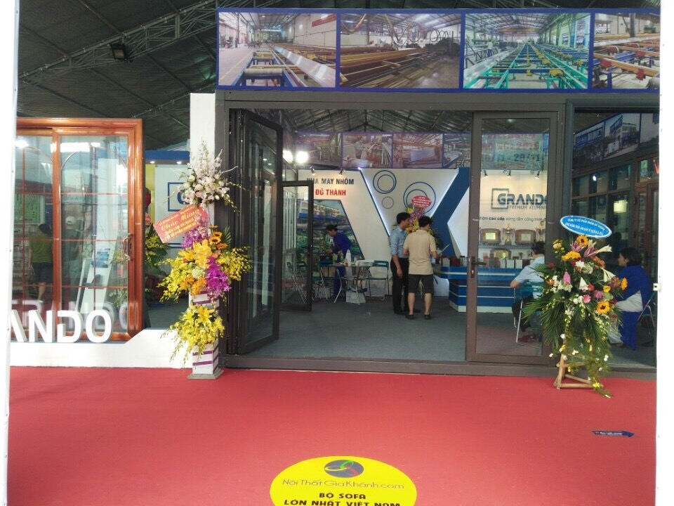 Gian hàng của Nhôm Đô Thành tại triển lãm Vietbuild 2016