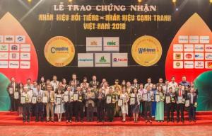 Grando lọt top 50 thương hiệu nổi tiếng Việt Nam năm 2018