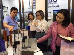Gian hàng Nhôm Đô Thành gây ấn tượng với khách hàng