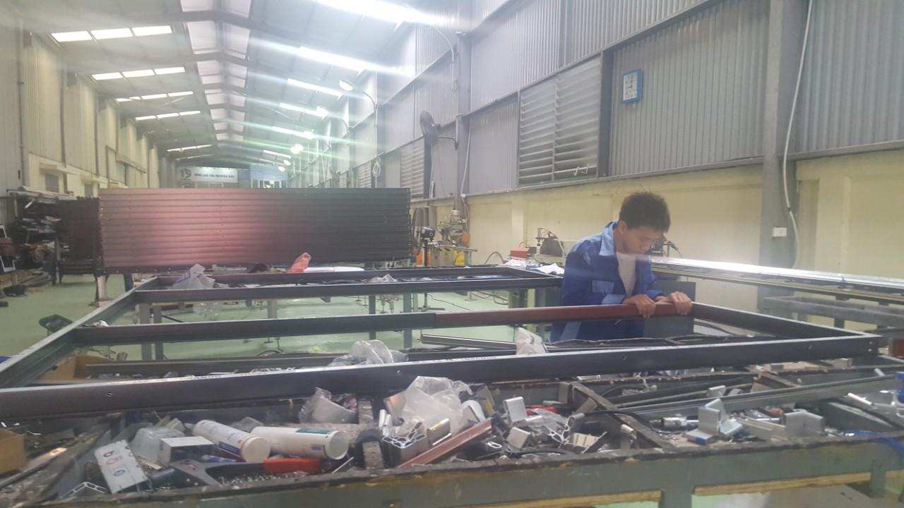 Xưởng sản xuất nhà máy Nhôm Đô Thành