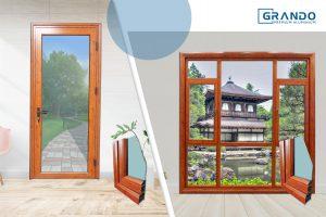 Cửa nhôm vân gỗ Grando