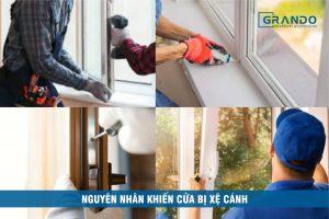 Nguyên nhân và cách khắc phục cửa nhôm xệ cánh