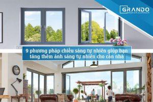 9 phương pháp chiếu sáng tự nhiên cho căn nhà